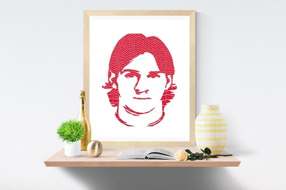 Leo Messi, Leo, Pink Print, Pink Prints, White Print, White Prints, Wall Art, Art Print, Printable Art, Wall Prints, Modern Art