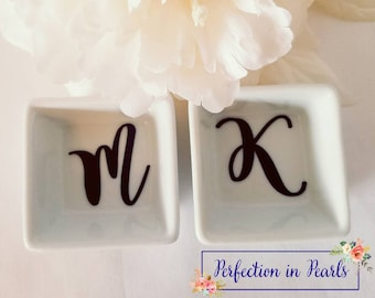 2.60 Shipping // Personalized Ring Dish // Monogrammed Jewelry Dish // Bridesmaids Gifts // Hostess Gifts // Party Favor // Stocking Stuffer