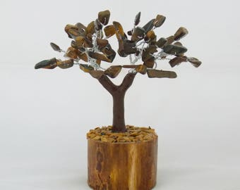Bonsai Tree, Crystal Tree, Tiger Eye tree, Gem Tree, Chakra Bonsai, Chakra Tree, Feng Shui Tree,