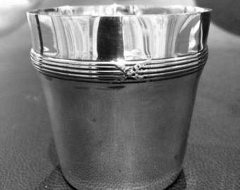 Banded Silver art deco plated stirrup  cup by Wiskemann of Belgium