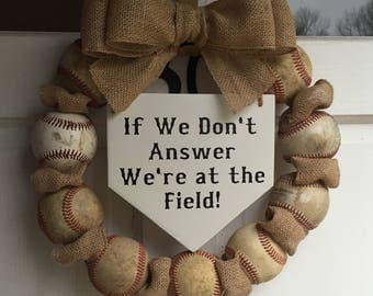 Baseball/Softball Wreath