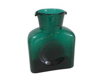 Blenko Emerald Green Pitcher