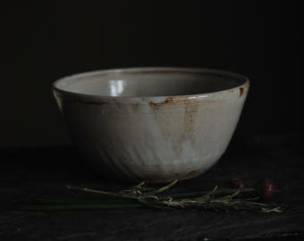 White Ceramic Stoneware Bowl/ Tea Bowl/Breakfast Bowl
