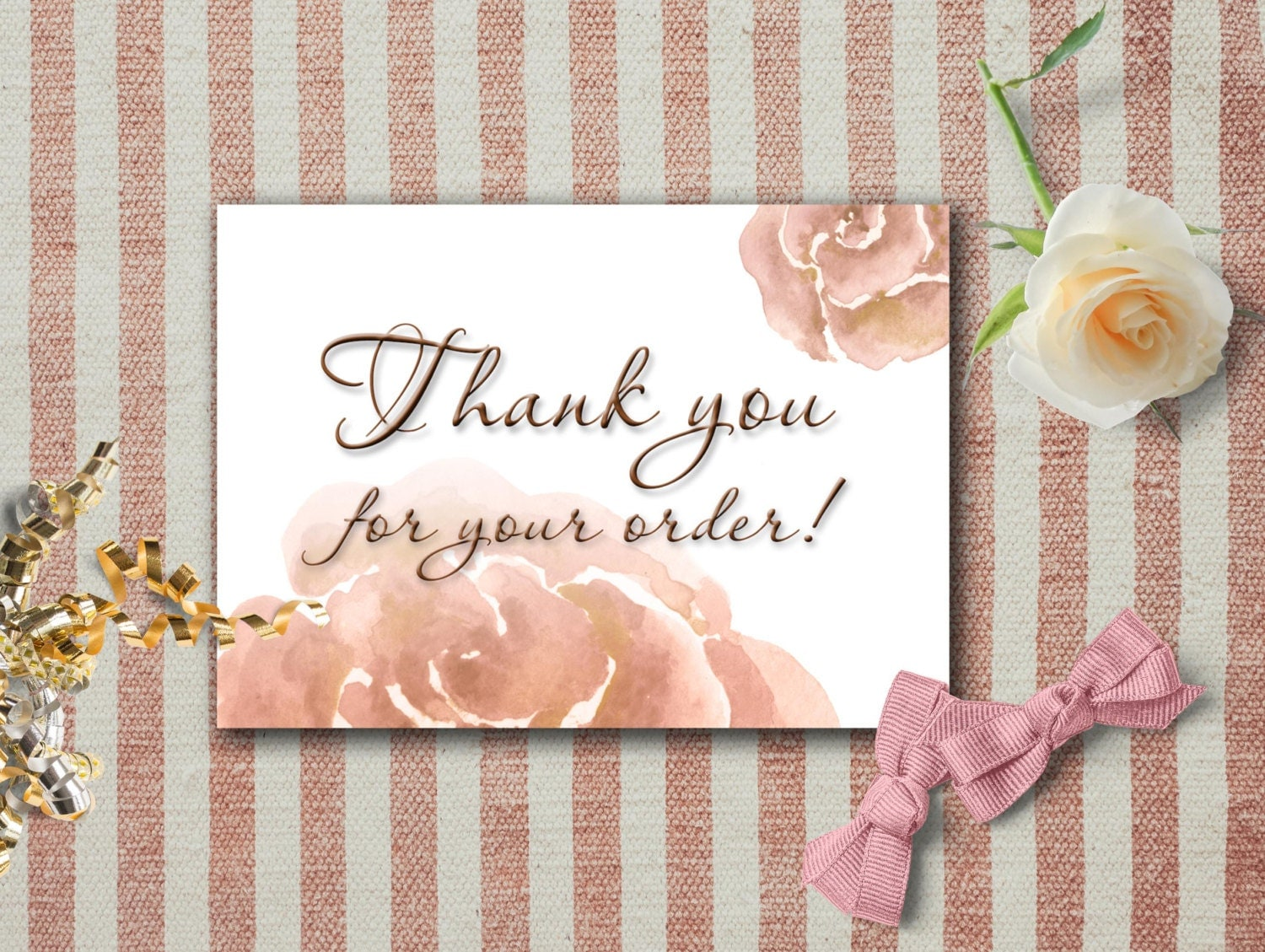 It is a photo of Lively Thank You for Your Purchase Printable