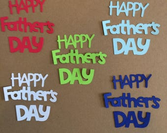 10  Happy Father's Day Die Cuts for Paper Crafts in Sail Away Colors Set 5802