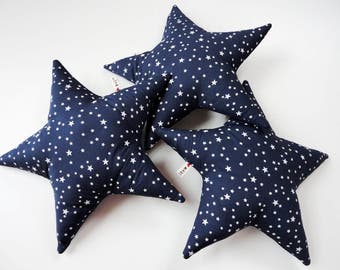 Star shaped pillow, blue star cushion, nursery star decor, unisex baby shower gift, small throw pillow, kids pillow, star cuddle toy