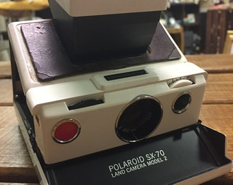 Vintage Polaroid SX-70 Land Camera w/ film speed meter & print coaters