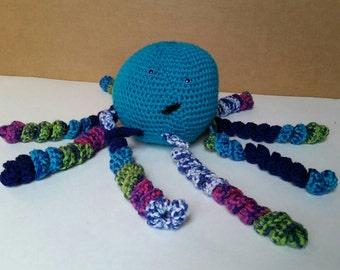 Octopus, stuffed animal, crochet pillow, crochet toy, nautical