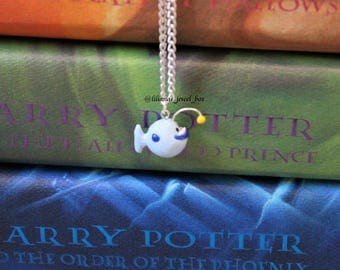 Handmade polymer clay nerdfighter vlogbrothers hanklerfish anglerfish charm/necklace - DFTBA