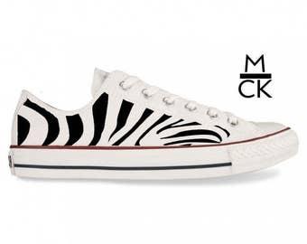 Custom Handpainted Adult Zebra Converse All Star Ox