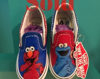 Sesame Street hand painted shoes