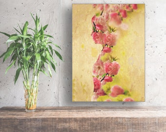 Large wall art, Large Ready to hang Stretched Canvas wall art, Abstract art print, Home Decor, large abstract art,Floral Print, Canvas print