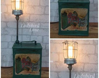 Industrial Lighting, Petrol Can Lamp, Fathers Day Gift, Man Cave, Fathers Day, Vintage Petrol Can, Mechanic Gift, Industrial Style