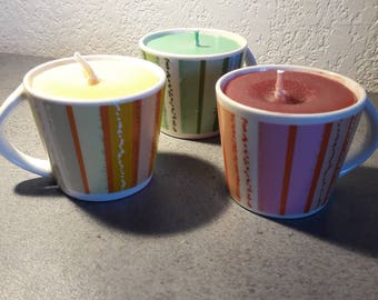 set of three cups assorted