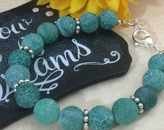 Green Agate Gemstone Beaded Bracelet