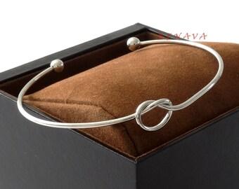 Elegant bracelet Bangle node silver