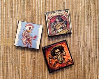 Day of the Dead Sugar Skulls Magnet pack of 3