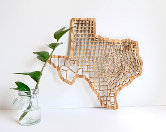 Texas County Map - 3 Sizes