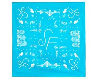 Symbols of San Francisco Bandana