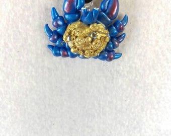 Shiny crab pandant inspired by tamatoa.or tamatoa pin .