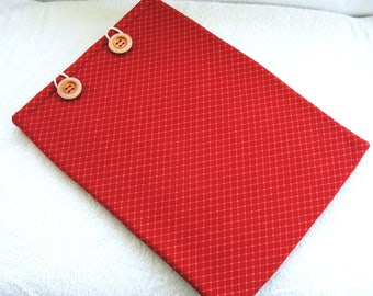 """Laptop Case, Red Print Laptop Cover 15 Inch, 15 Inch Laptop Case, 15 Inch Laptop Cover, 15 Inch Laptop Sleeve, Laptop Sleeve, 17"""" x 12"""""""
