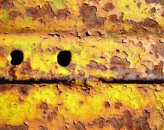 Print art photographe picture abstract yellow printing 8x12 10x15 12x18 14x21 16x24 18x27 interior decoration wall decoration rusty foto