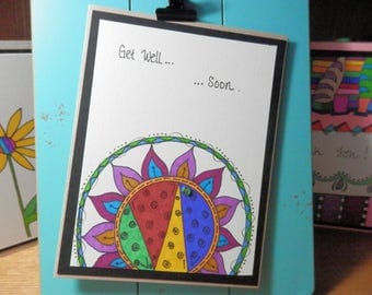 Get Well Card, Greeting Card, Get Well Soon, Handmade, Card with Envelope