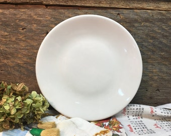 Sterling Vitrified China Dinner Plate/White Ironstone/Ohio/Farmhouse Dishes