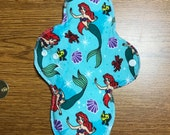 11 inch HEAVY Absorbency Reusable Menstrual Cloth Pad - The Little Mermaid