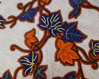Leafy African Fabric, Angelina,  African fabric, African Clothing, African Print, Kitenge, African Wax Print, 1 Yard Fabric