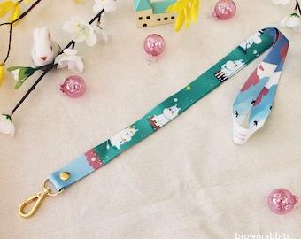 Cute Moomin Badge Key Card Lanyards