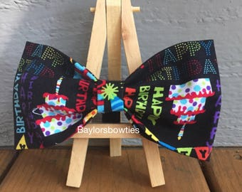 Birthday Bow Tie, Happy birthday dog bow, Birthday dog bow tie, dog bow tie