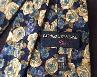 best price - Carnival of Venice Paris high fashion Silk Tie - Signed Carnival of Venice - Very Elegant - 100% Silk - Vintage hand made