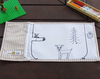 Noble Cubs Colouring in Mat (and drawing) - Forest Friends