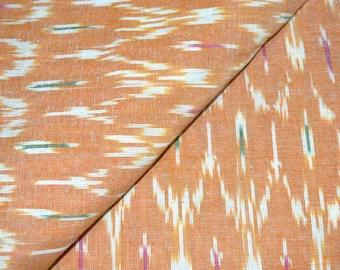 Orange and White Unique Ikat Print Fabric