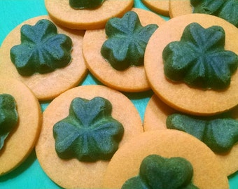 Spinach & Cheddar Cheese St Patrick's Day Dog Treats Cookies