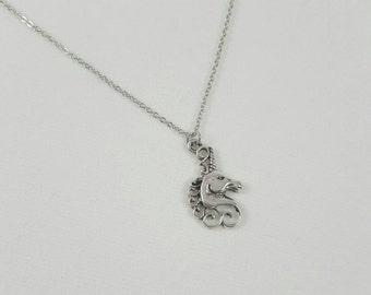 Elegant Unicorn Necklace, Silver Unicorn Head Pendant, Unicorn Jewelry, Clearance Necklace, Clearance Unicorn
