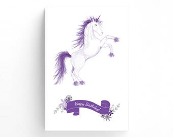 Pin The Horn On The Unicorn Customizable Birthday Party Game, Creative and Fun Games Moms and Kids Will Love, Inspiration For Little Girls
