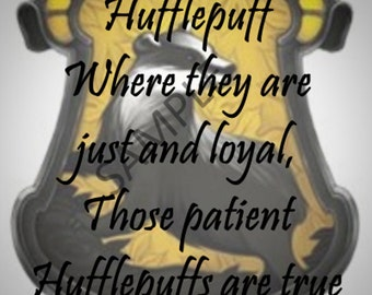 Hufflepuff Sorting Hat Song 5x7 Instant Download