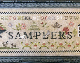 Samplers by The Scarlett House Counted Cross Stitch Pattern/Chart