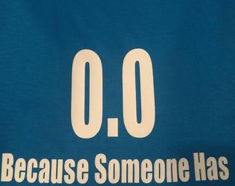 0.0 marathon supporter T shirt