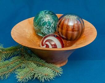 Rippled maple bowl