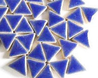 Triangle Ceramic Mosaic Tiles - Delphinimum - 50g