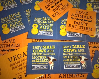 Vegan Activist Stickers