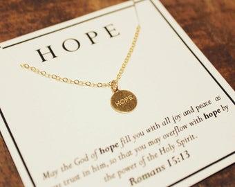 Hope Scripture Necklace | Romans, Hope, Christian Jewelry, Easter Season, Lent