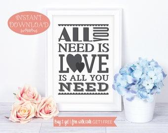 Printable Quotes, Love Print, Wall Art Prints, Instant Download, Quote Prints, Minimalist Print, Modern Art, Love Quote, Wall Art, Prints