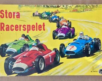 Vintage board game Stora Racerspelet 1960s made by Klee