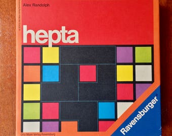 1970s Ravensburger strategic board game Hepta from West Germany