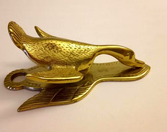 Virginia Metal Crafters Brass Duck Paper Clip Note