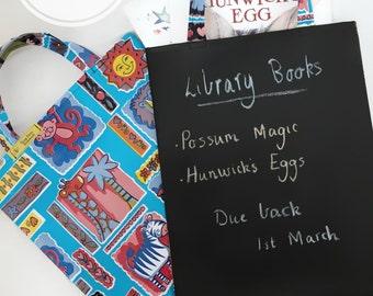 Blackboard library/toy/shopping bag, Blackboard library bag, shopping bag, toy bag, chalkmat bag,